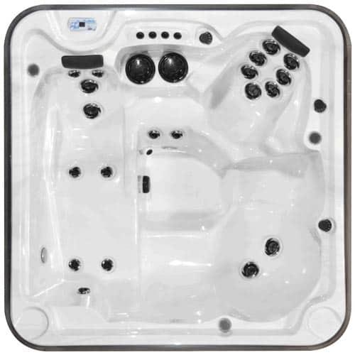 Top view of a hot tub model Eagle prestige