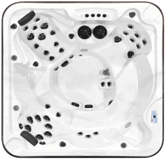 Top view of the Totem model of Arctic Spas Hot Tub