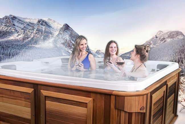 Women chatting in an Arctic Spas hot tub
