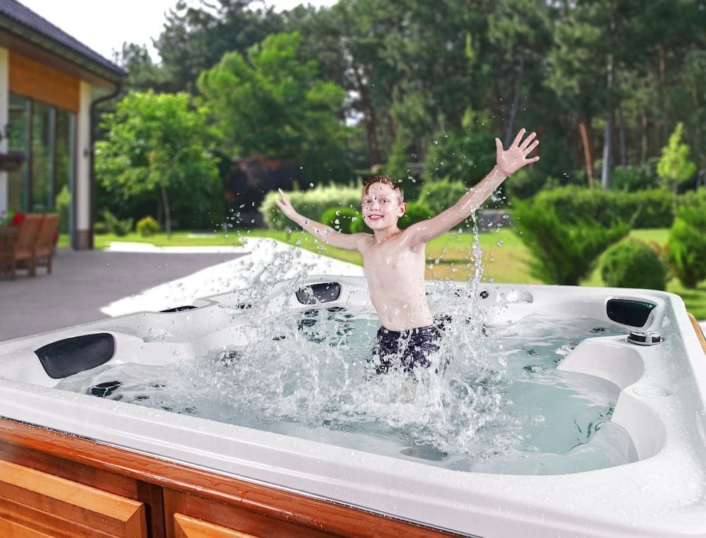 The kids love an Arctic Spas hot tub