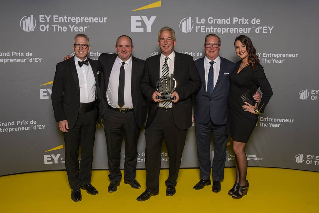 Dennis Kellner and his two partners as Finaliston EOY Gala 2019
