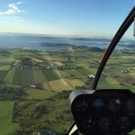 The view from a helicopter