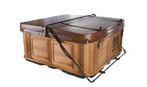Hot tub with a cover lifter
