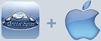 arcticspas logo plus apple logo