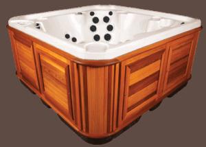 arctic spas hot tub red cedar cabinet
