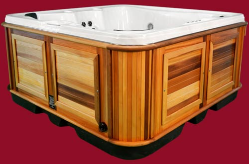 Side view of the Arctic Spas Hot Tub Cub model