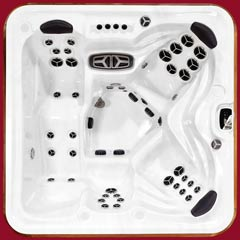 Top view of the Cub model of Arctic Spas Hot Tub