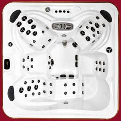 Top view of the Kodiak model of Arctic Spas Hot Tub