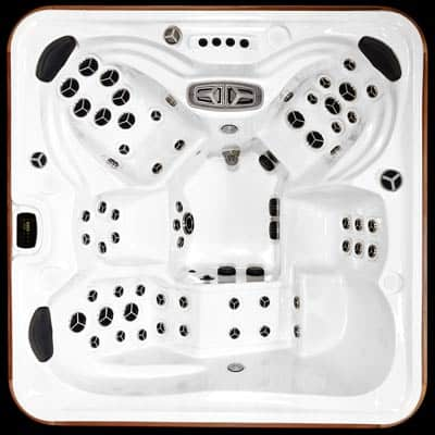 Arctic Spas Kodiak model, top view of the Legend Select jet configuration