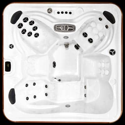 Arctic Spas Kodiak model, top view of the Prestige jet configuration