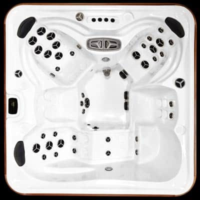Arctic Spas Kodiak model, top view of the Signature jet configuration