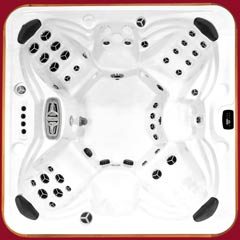 Top view of the Tundra model of Arctic Spas Hot Tub