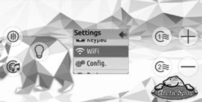 Control panel showing where to find Wifi Settings