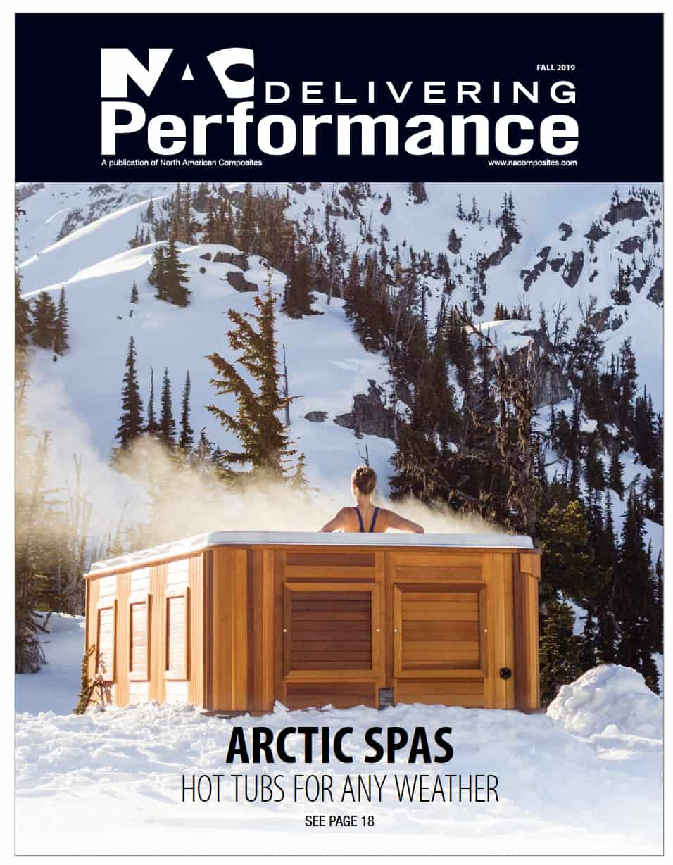 Front page of a NAC delivering performance arctic spas brochure