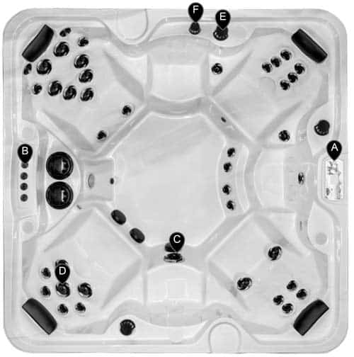 Top view of a Classic Series hot tub